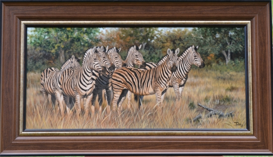 """""""Striped camouflage"""" 29"""" x 49"""""""