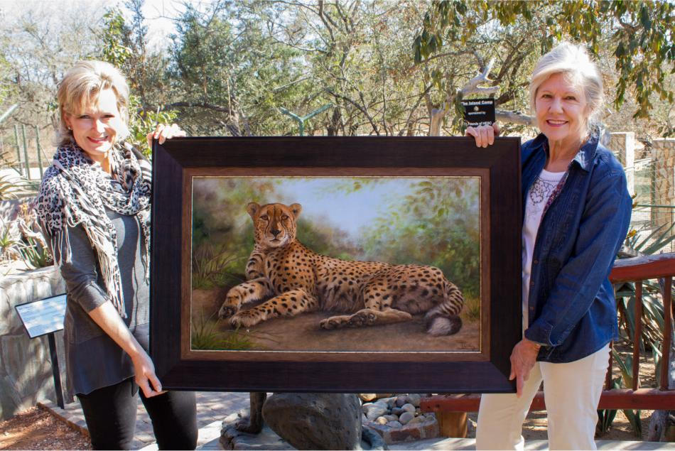 A cheetah painting for HESC!