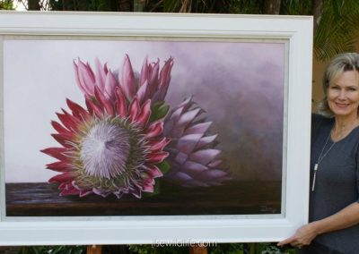 King protea - Palette in pink & purple