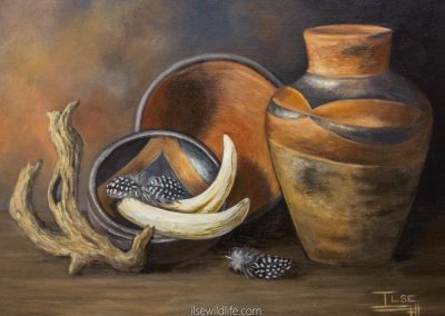 Venda pots, tusks & feathers